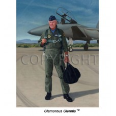 Canvas Giclee of General Yeager w/ F-15